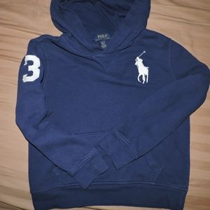 Boys Polo Ralph Lauren Big Pony Hoodie M. 10-12